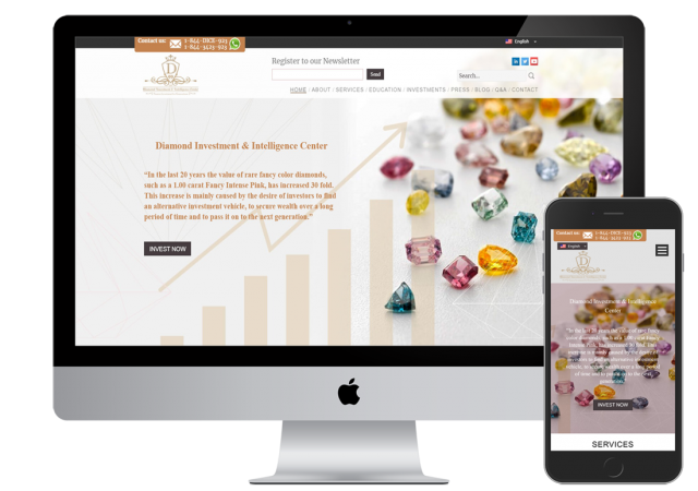 אפיון, עיצוב ופיתוח אתר DICE
